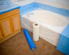Plastic Sheeting - Protective Film - Surface Protection -GPSTub Plastic is a heavy-duty self adhesive 8 mil plastic sheeting designed specifically for use on bathtubs, showers, and shower pans. Customers also use it to protect countertops and fixtures. In the cruise line industry, this product is widely used as glass protection when building new ships.