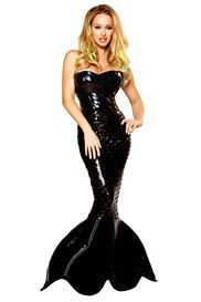 Yesssss Betty Page vinyl mermaid mistress costume <3