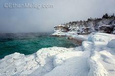 Icy shoreline of Georgian Bay Ontario Travel, Toronto Travel, Tobermory Ontario, Lake Huron, Winter Scenery, Indian Head, Georgian, Places To See, Armchair