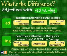 adjectives with -ed and -ing