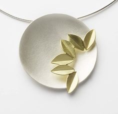 Silver and 18k gold Fold Necklace, Designed by Sue Lane