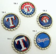 fun Texas Rangers bottlecaps