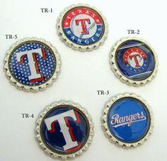 fun Texas Rangers bottlecaps