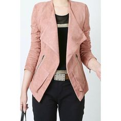 Casual Turn-Down Collar Long Sleeve Zippered Jacket For Women