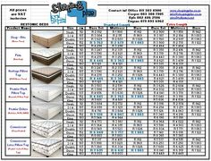 price list restonic beds