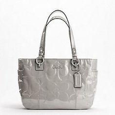 Coach Patent Embossed Signature Gallery Book Bag Purse Tote 17728 Gray Coach, http://www.amazon.com/dp/B0058LH9QE/ref=cm_sw_r_pi_dp_YzEBqb0JY5F1V