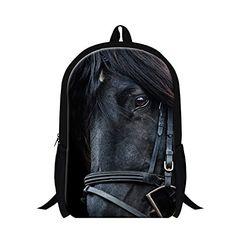Personalized animal horse backpacks for children,teenager boys cool school  bookbag,fashion lightweight back pack girls bagpack 643c839e6b