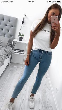 Chic Summer Outfits, Spring Fashion Casual, Spring Fashion Trends, Mom Outfits, Cute Casual Outfits, Teen Fashion, Fashion Outfits, Womens Fashion, Girly Outfits