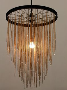 Bike tire chandelier    Lighting