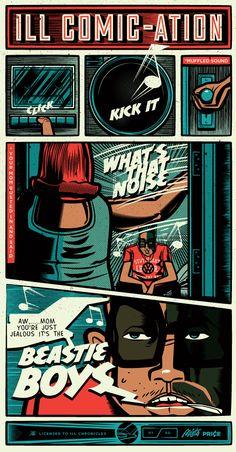 Ill Comic-cation Beastie Boys Print- Illustrator: Travis Price