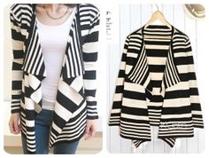 KCLOTH WaterFall Long Line Knitting Blazer in Stripes Pattern K1314  Bohemian Cardigans Outwear Sweaters/Top/Oversize/soft knit wear/coat on Etsy, ₱1,408.45