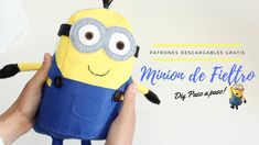 DIY MINION DE FIELTRO 3D | PATRÓN GRATIS