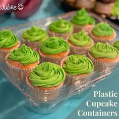 When it comes to your cupcake transporter needs, you want quality you can trust! That's why we have these Disposable Cupcake Containers with a premium fitted Jubee bag . These containers can be washed, air-dried and re-used several times while maintaining their original integrity. Order now for Cupcake Containers Disposable 12 Count!!! #cupcakecontainer #cupcake #cupcakebirthday #fondantcupcake #icingcupcakes #cakeshop #bakeshop #birthday #cupcakeholder #cupcakecarriers #jubeebag Cupcake Icing, Cupcake Boxes, Box Cake, 12 Cupcakes, Fondant Cupcakes, Birthday Cupcakes, Environmentally Friendly Packaging, Cake Shop
