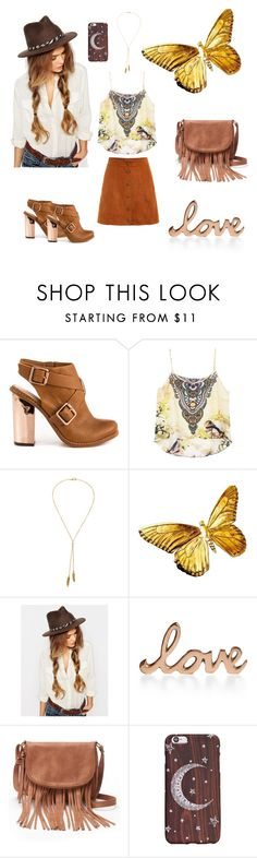 """Suede hippy"" by radon1964 ❤ liked on Polyvore featuring Kristin Cavallari, Bølo, Brixton, Home Design Studio and Apt. 9"