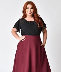 No need for a wish list when youve got Jeannie, gals! Presenting a chic separate from Unique Vintage, the Jeannie Top is a gorgeous plus size 1940s style piece thats sure to steal some hearts. Crafted in a lovely lightweight chiffon and cast in a fashio