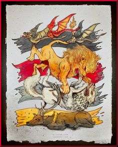 """Sigils. """"This is a time for beasts, for lions and wolves and angry dogs, for ravens and carrion crows. """""""