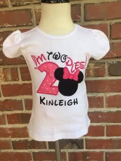 Minnie Mouse, twodles, birthday shirt, outfit, Mickey mouse disney