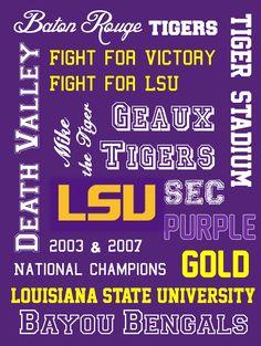 : SEC College Football Printable Subway Art: Alabama, Auburn, Florida, Arkansas, and LSU