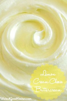 Lemon Cream Cheese Buttercream ~  has the texture of mousse and tastes just like lemon cheesecake! Perfect for refreshing spring cakes and pipes beautifully.