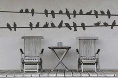 Birds on a line by Stickaroo, Wall stickers, Art & Wall decals Vinyl Wall Stickers, Vinyl Art, Wall Decals, Vinyl Decor, Wall Art, Wall Candy, Beautiful World, Birds, Crafty