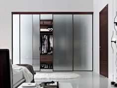 Bedroom, : Amazing Walk In Closet Ikea For Bedroom Interior Design Ideas Using White Furry Rug And White Sheet Platform Bed Also Black Wooden Cupboard With Glass Door Clothes Racks