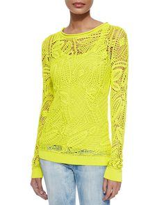 Shop over top ralph lauren tops all in one place. Pullover Design, Sweater Design, Ralph Lauren Black Label, Ralph Lauren Tops, Freeform Crochet, Crochet Lace, Irish Crochet, Mode Crochet, Crochet Shirt