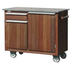 Outdoor Mobile Wait Service Station Cart Smokehouse