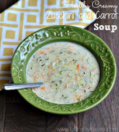 quick & healthy Creamy Zucchini and Carrot soup will certainly hit the spot.  Made in just 30 minutes with no heavy cream!
