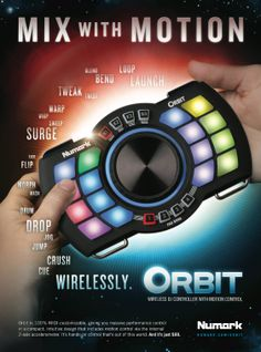 Mix with Motion!  Numark Orbit  СТАРА ЦЕНА :  8.300,oo ден  НОВА ЦЕНА: 7.200,oo ден  Numark's Orbit wireless MIDI performance controller @ Artist Sistems