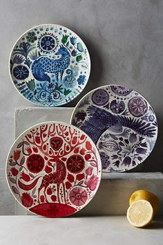 Nordic Sunrise Dessert Plate - anthropologie.com