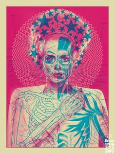 Brian Ewing SHOP | ART-PRINTS > Bride Art Print (Bubblegum Colorway)