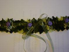 Close up of camo bridal garter. What do you think?