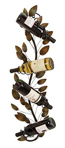 Deco 79 Metal Wall Wine Holder 36 by 9Inch *** You can get additional details at the image link.