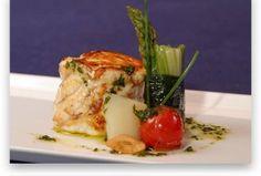 Pixin braseado con verduras tiernas, crujiente de... - Real Balneario de Salinas