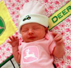 John Deere baby girl this is so precious!!
