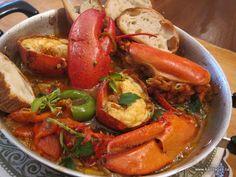 lobster saganaki
