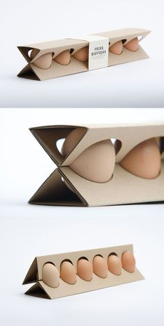 clever, sustainable and economical egg packaging by Otilia Andrea Erdelyi, a Moholy-Nagy University studant in Budapest, Hungary