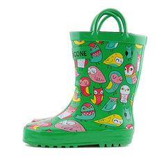 Lone Cone Childrens Waterproof Rubber Rain Boots in Fun Patterns with EasyOn Handles Simple For Kids ** You can find more details by visiting the image link.
