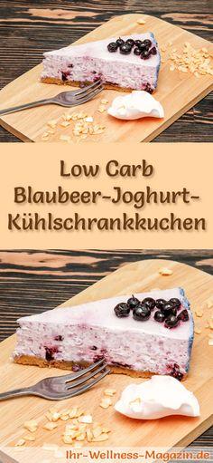 Rezept für einen Low Carb Blaubeer-Joghurt-Kuchen - kohlenhydratarm, kalorienreduziert, ohne Zucker und Getreidemehl
