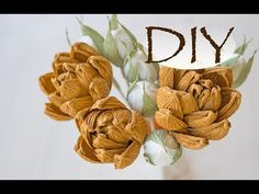 МАСТЕР-КЛАСС СУККУЛЕНТ ИЗ БУМАГИ / DIY Paper Succulents / How To Make Succulent From Crepe Paper - YouTube