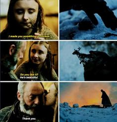Shireen and Ser Davos