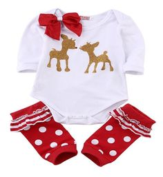 Baby Rudolph Christmas Outfit