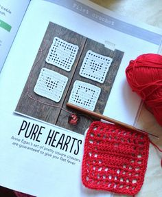 Simply Crochet patterns for crochet filet hearts