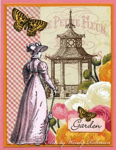 Wendy Robinson - rubber stamped art using Oxford Impressions rubber stamps.