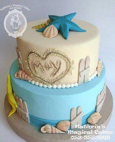 SEASIDE WEDDING CAKE THEME