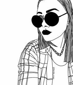 grunge sketch outlines