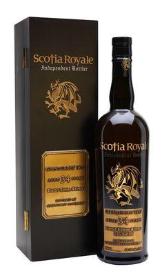 Glenturret 1977 / 34 Year Old / Scotia Royale Highland Whisky Cigars And Whiskey, Scotch Whiskey, Whiskey Bottle, Highland Whisky, Alcohol Bottles, Single Malt Whisky, Evil Spirits, Bottle Labels, Bourbon