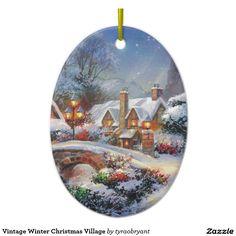 Vintage Winter Christmas Village