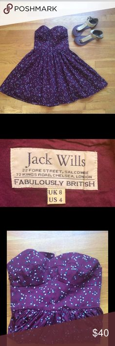 Jack Wills Dress🐧 Jack Wills dress looking for a new home!!! This a cute and fun dress💗The color is more of a Burgundy color! Jack Wills Dresses Mini