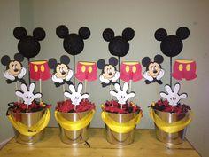 Mickey Mouse Birthday Decorations (Set of 4). $39.00, via Etsy.
